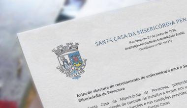 Aviso de abertura de recrutamento de enfermeiro/a para a Santa Casa da Misericórdia de Penacova